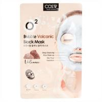 Тканевая маска Cos.W O2 Bubble Volcanic Black Mask